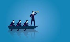 Biznesowa praca zespołowa Dosięgać sukces Wpólnie ilustracja wektor