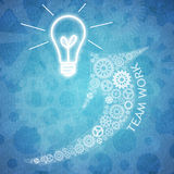 Biznesowa praca zespołowa i innowacja Zdjęcia Royalty Free