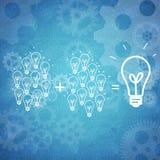 Biznesowa praca zespołowa i innowacja Obrazy Royalty Free