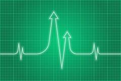 Biznesowa pulsu tła zieleń ilustracja wektor