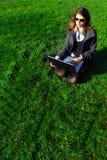 biznesowa relaksująca kobieta Zdjęcia Stock
