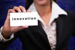 biznesowa ręki innowaci przedstawienie kobieta Zdjęcia Stock