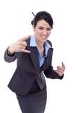 biznesowa robi rockowa rolki znaka kobieta Obraz Royalty Free