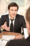 Biznesowa rozmowa. zdjęcia stock