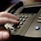 Biznesowa rozmowa telefonicza Obrazy Royalty Free