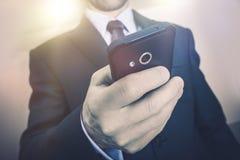 Biznesowa rozmowa telefonicza Zdjęcia Stock