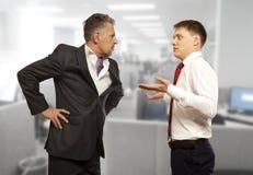 Biznesowa rywalizacja, konfliktu pojęcie zdjęcia royalty free