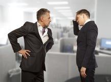 Biznesowa rywalizacja, konfliktu pojęcie Obraz Royalty Free