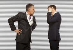 Biznesowa rywalizacja, konfliktu pojęcie Obrazy Stock