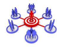 Biznesowa sieć. Grupowy lider. Obrazy Royalty Free