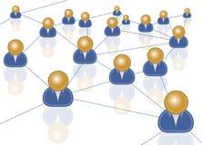 Biznesowa sieć royalty ilustracja