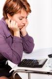 biznesowa smutna kobieta zdjęcie stock
