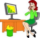 Biznesowa strata ilustracja wektor
