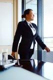 biznesowa szczęśliwa biurowa kobieta Obrazy Royalty Free