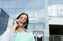 biznesowa szczęśliwa kobieta zdjęcia royalty free