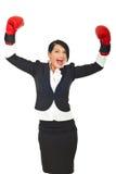 biznesowa szczęśliwa pomyślna kobieta Obraz Royalty Free