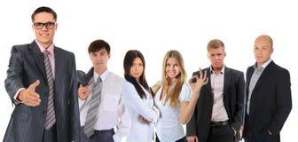 biznesowa szczęśliwa uśmiechnięta drużyna Obrazy Stock