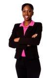 biznesowa szczęśliwa uśmiechnięta kobieta Obrazy Stock