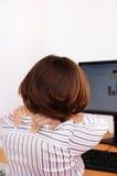 biznesowa szyi bólu kobieta obrazy stock