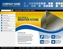 biznesowa technologii szablonu strona internetowa royalty ilustracja