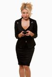 biznesowa texting kobieta obrazy royalty free