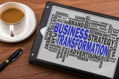 Biznesowa transformaci słowa chmura obrazy stock