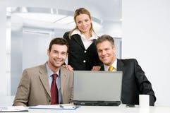 biznesowa uśmiechnięta drużyna zdjęcia stock