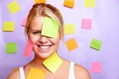 biznesowa uśmiechnięta kobieta Zdjęcia Stock