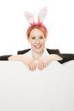 biznesowa ucho królika kobieta obrazy royalty free