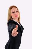 biznesowa ufna uśmiechnięta kobieta Fotografia Royalty Free