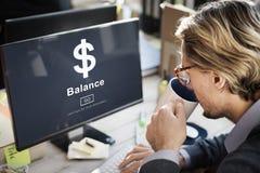 Biznesowa waluty równowaga Przedkłada pojęcie zdjęcia royalty free