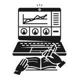 Biznesowa webinar ikona, prosty styl ilustracja wektor