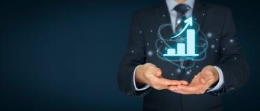 Biznesowa wzrostowa analiza obrazy royalty free