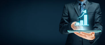Biznesowa wzrostowa analiza Zdjęcie Stock