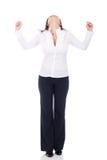 biznesowa zwycięska kobieta Fotografia Royalty Free