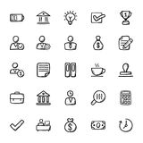 Biznesowe Doodle ikony 2 ilustracja wektor