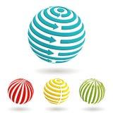 biznesowe globalne ikony Zdjęcie Royalty Free