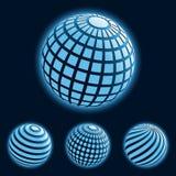 biznesowe globalne ikony Fotografia Royalty Free