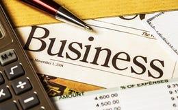 Biznesowe grafika i książeczka czekowa Zdjęcia Stock