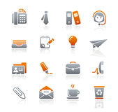 biznesowe grafitowe ikon biura serie