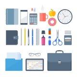 Biznesowe i biurowe miejsce pracy rzeczy 2 royalty ilustracja