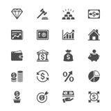 Biznesowe i inwestorskie płaskie ikony ilustracja wektor