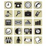 Biznesowe ikony Obrazy Stock