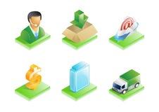 Biznesowe ikony ustawiać Obraz Royalty Free