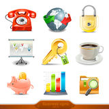 Biznesowe ikony ustawiają 3 Zdjęcie Stock