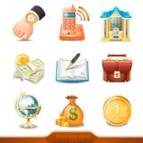 Biznesowe ikony ustawiają 4 Obrazy Royalty Free