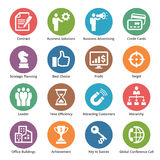 Biznesowe ikony Ustawiają 2 - kropek serie Obraz Royalty Free