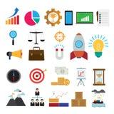 Biznesowe ikony wektorowe Zdjęcia Stock
