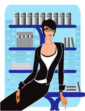 biznesowe ilustracyjne biura wektoru kobiety ilustracji