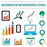 Biznesowe infographic ikony Zdjęcia Stock